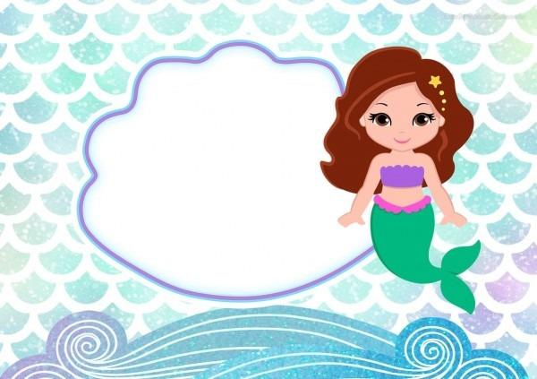 28 convites de sereia para uma festa no fundo do mar! – modelos de