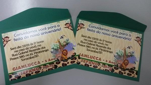 Convite cartão 10x15 com envelope no elo7