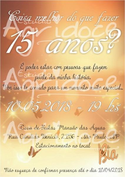 Convite virtual 15 anos no elo7