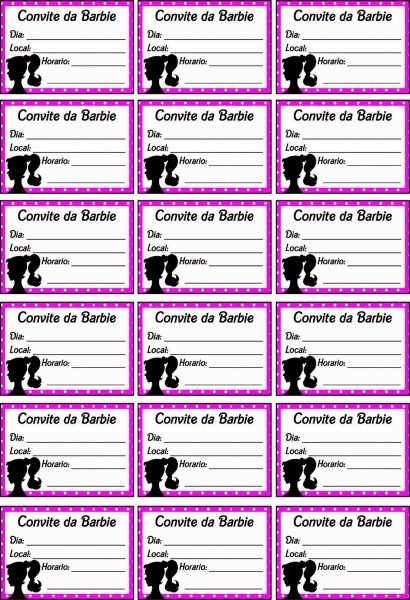 Dicas e truques para crianças  convite gratuito para festa da barbie