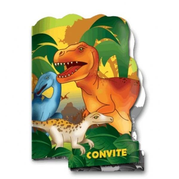 Convite de aniversario dinossauro festcolor