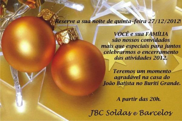 Natália mara  convite fim de ano jbc soldas e barcelos