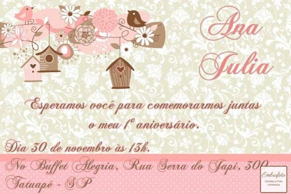 Convites de aniversario