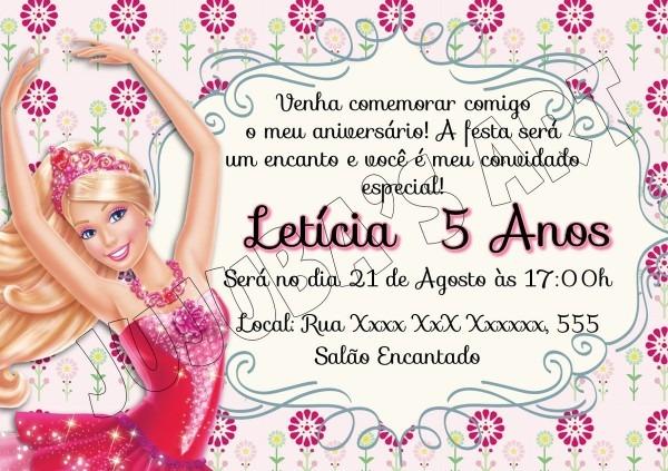 Convites de aniversario da barbie 7 » happy birthday world
