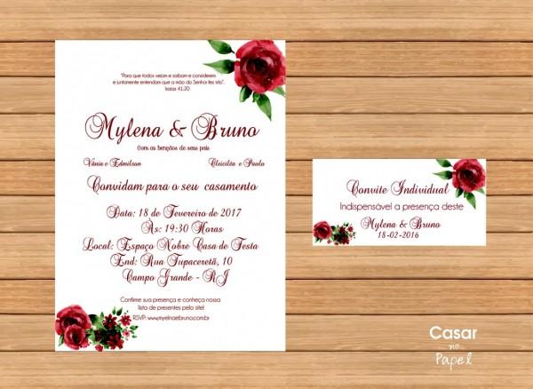 Criar convite de casamento online imagens digital mod 19 no elo7