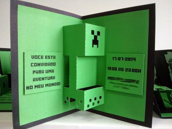 Mz convites e papelaria  convite minecraft …