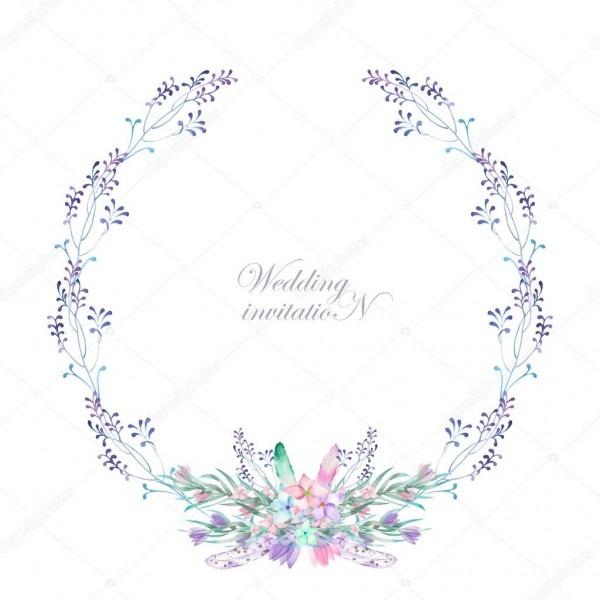 Um quadro de círculo, grinalda, borda de quadro com flores em