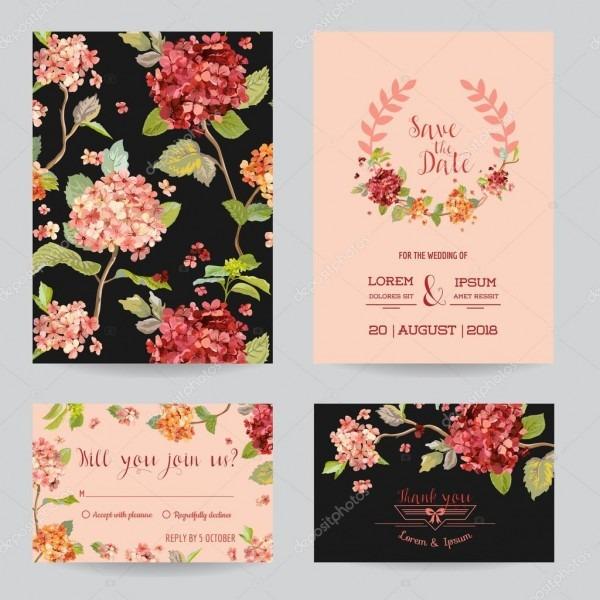 Salvar o tema de flores de hortensia data