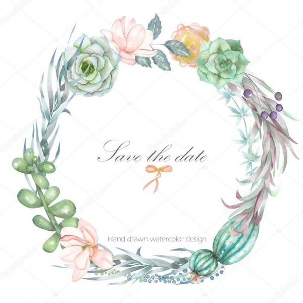 Um quadro de círculo, grinalda, borda de quadro com as flores em