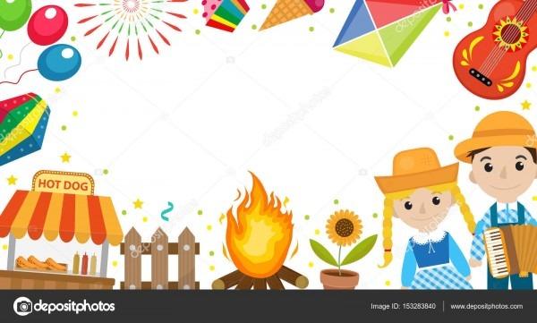 Banner de festa junina com espaço para texto  modelo festival