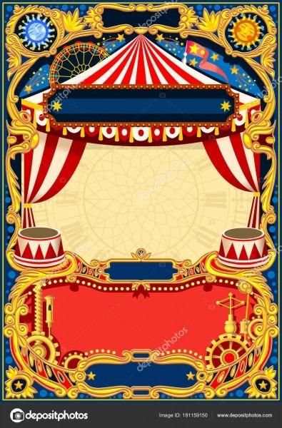 Circo quadro editável vector — vetores de stock © aurielaki  181159150