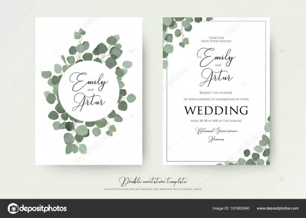 Florais em aquarela o estilo casamento duplo convidar, convite
