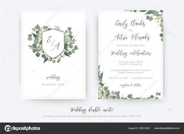 Casamento duplo convidar convite salvar data cartão floral design