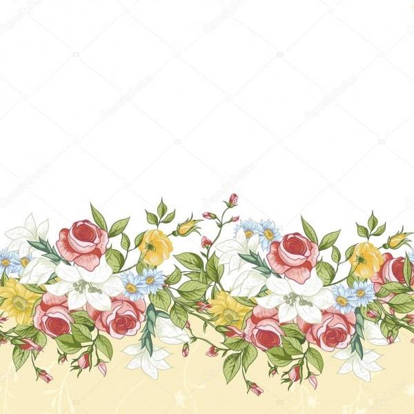 Borda floral sem emenda — vetor de stock © depiano  49937143