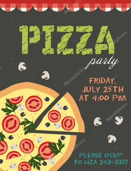 Pizza party — stock vector © miobuono12  65595995