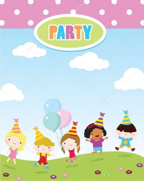 Convite para festa de crianças — vetores de stock © glossygirl21