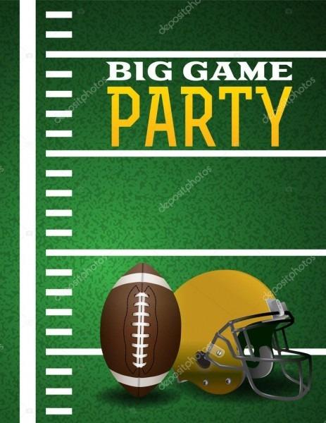 Convite para festa grande jogo de futebol americano — vetores de