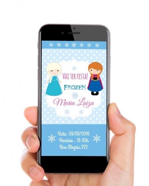 Convite digital tema frozen você pode enviar esse lindo convite