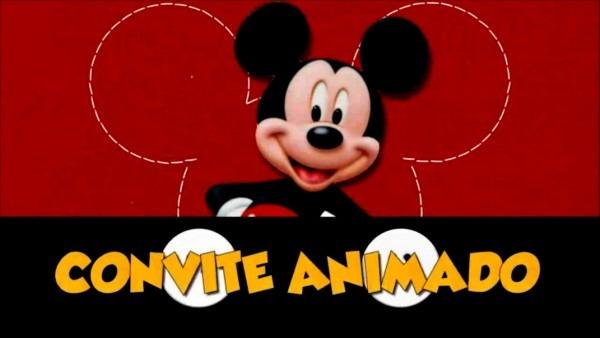 Elegante como fazer convite virtual animado gratis mickey no elo7