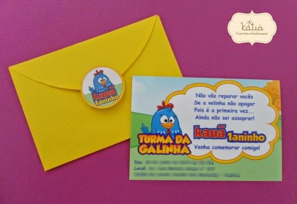 Envelope para convite de aniversario » happy birthday world