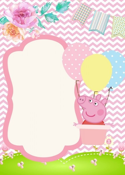 11 convite de aniversário grátis para baixar peppa pig