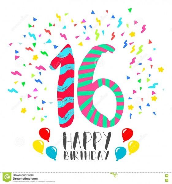Feliz aniversario para o cartão do convite do partido de 16 anos
