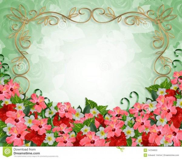 Flores tropicais do convite do casamento ilustrações, vetores e