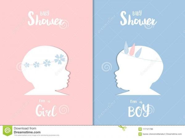 Grupo de cartões dos convites da festa do bebê, cartaz