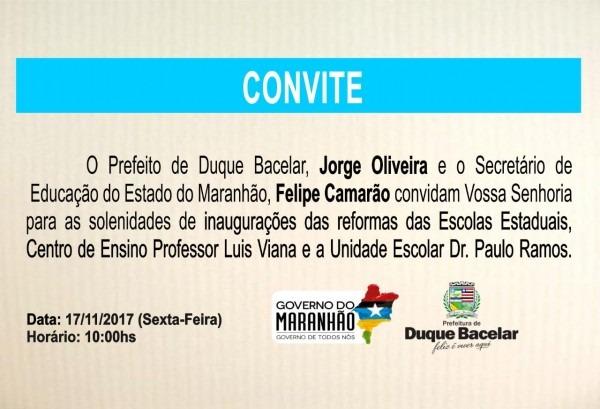 Portal leste maranhense  convite  o prefeito jorge oliveira e o