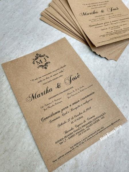 Impressão de convite (sem envelope, apenas o interno) no elo7