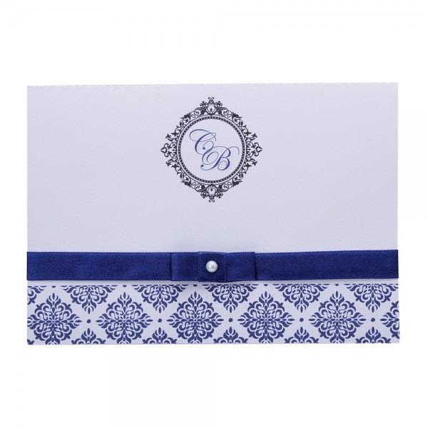 Kit 20 convites casamento azul
