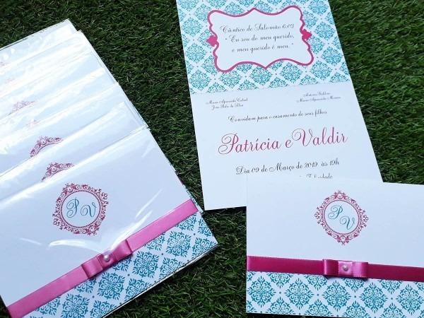 Kit 50 convites casamento