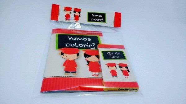 Kit colorir formatura infantil no elo7