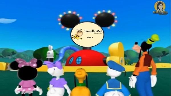 Amostra convite animado mickey mouse