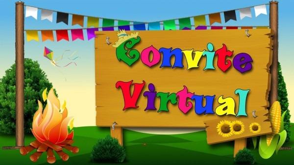 Convite virtual arraiá festa junina  julina