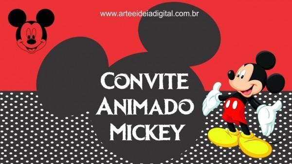 Convite animado mickey