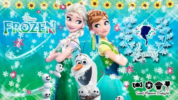 Convite digital animado frozen fever lavínia