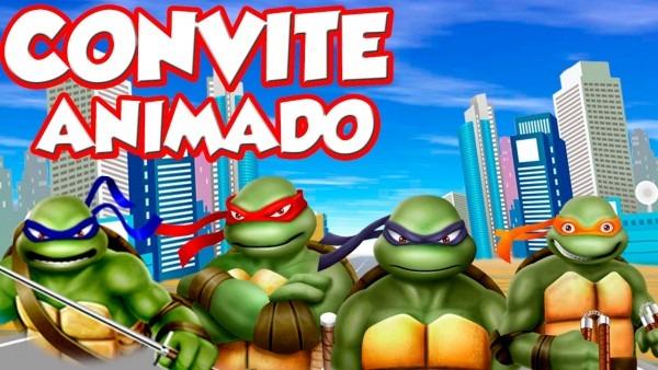 Convite animado tartarugas ninja