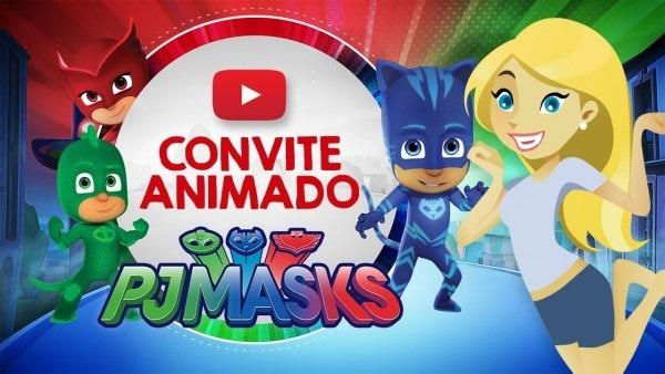 Convite animado pj masks grátis
