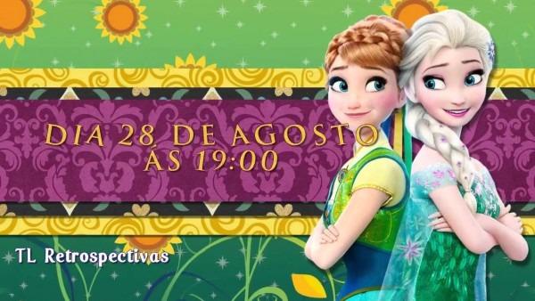 Convite animado frozen fever