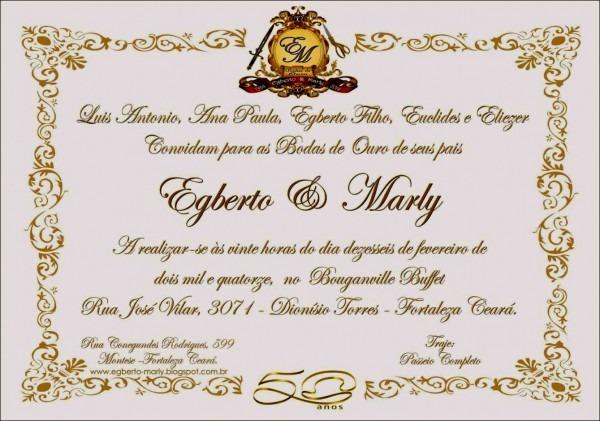 Modelo de convite para bodas ouro tend ncia modelos convites