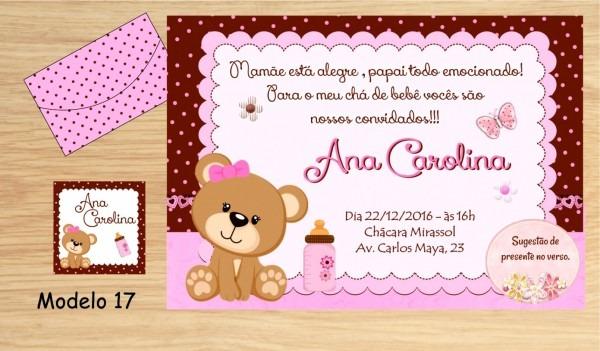 Nico de modelo convite cha fralda 48 convites ch beb fraldas no