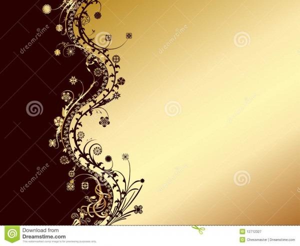 Ouro e cartão preto do convite ilustração do vetor