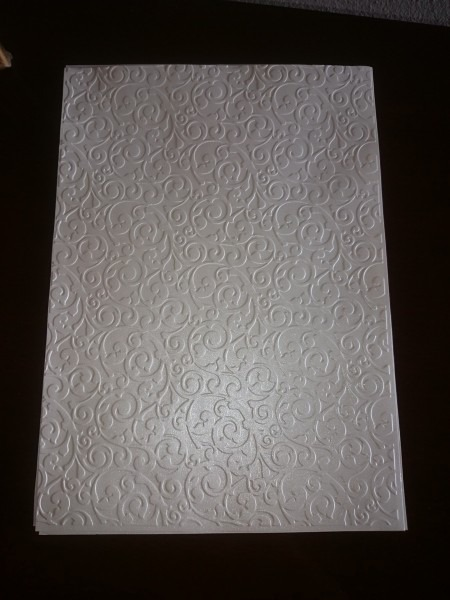 Papel para convite com textura perolizado