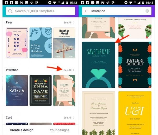 Como criar convites e cartões para festas no app canva