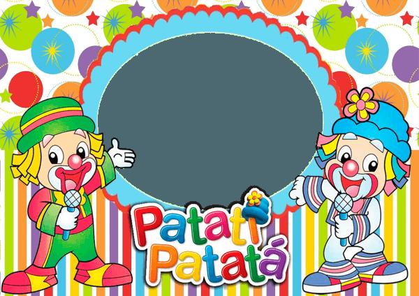 Artes da festa  molduras do circo e patati patata