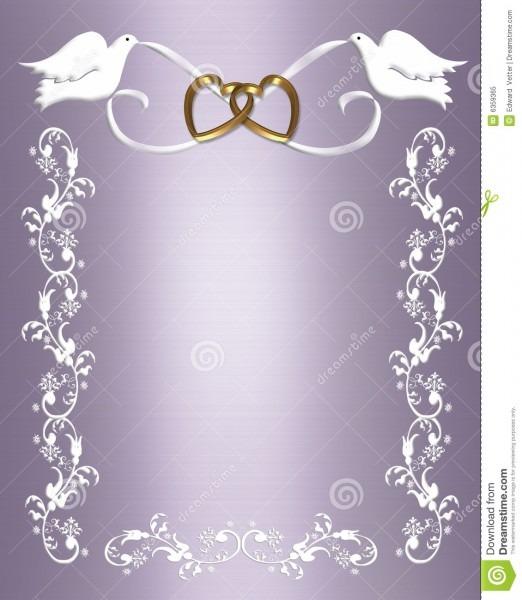 Pombas do branco do convite do casamento ilustração stock