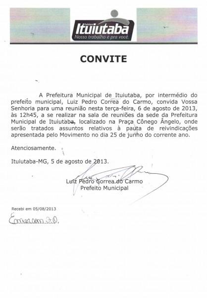 Manifestantes recebem convite para reunião com prefeito de