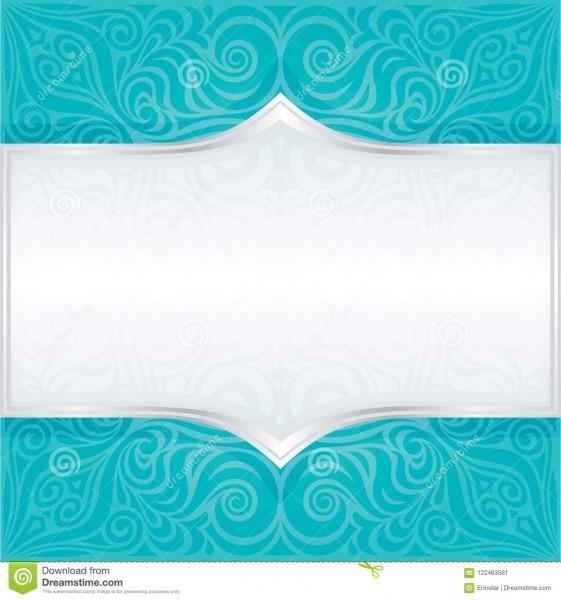 Projeto floral azul verde da mandala do fundo do convite do
