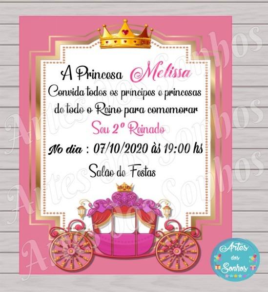 PromoÇÃo convite realeza rosa e dourado no elo7